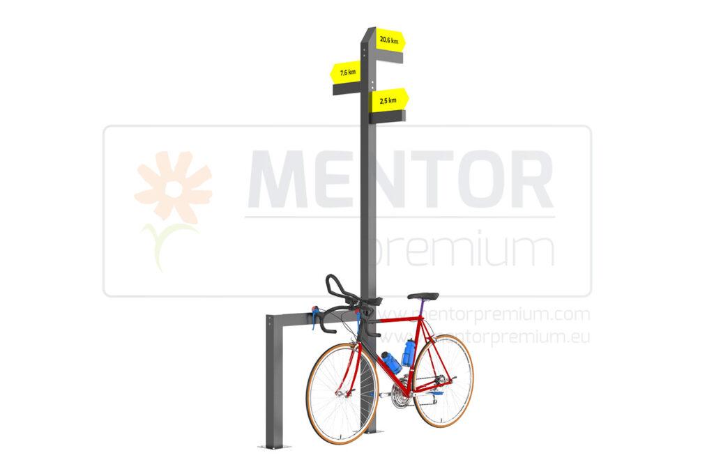 Strata – richtungsweiser mit einem fahrradständer